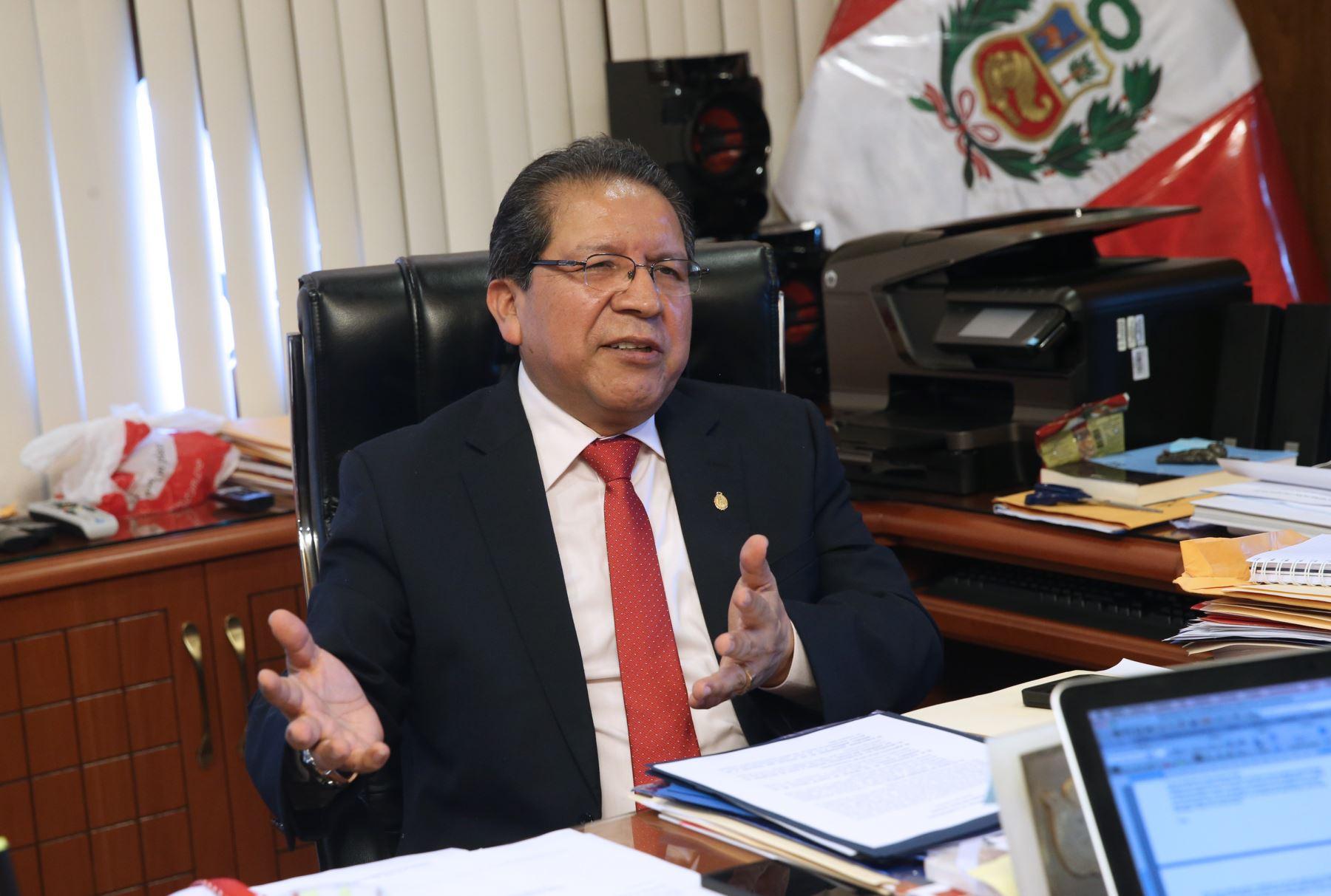 LIMA, PERÚ NOVIEMBRE 09. Fiscal de la Nación l doctor Pablo Wilfredo Sánchez Velarde . Foto: ANDINA/Norman Córdova