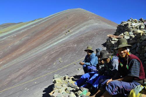Montaña Winikunka, en la región Cusco. Cortesía