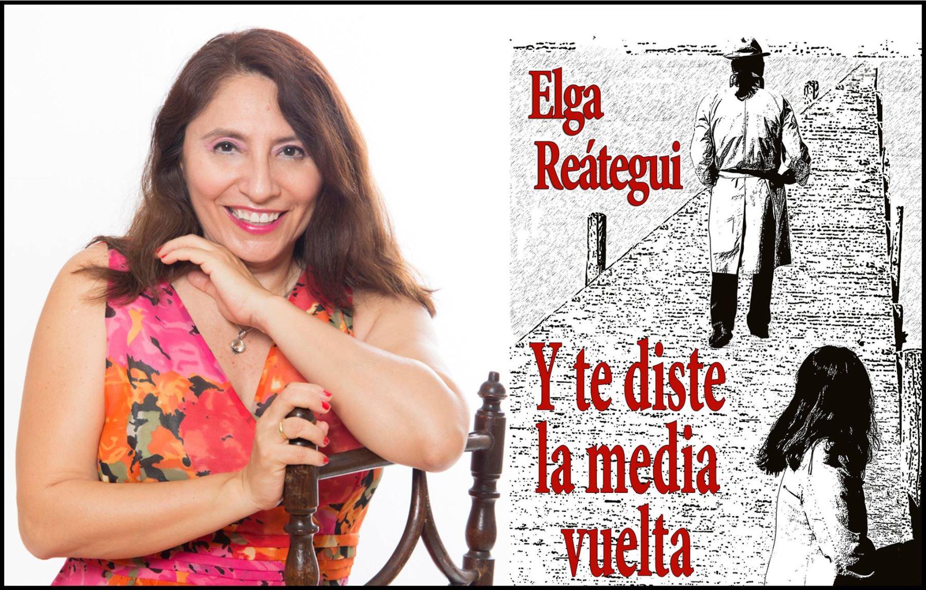 Elga Reátegui llega de España para presentar su reciente libro.