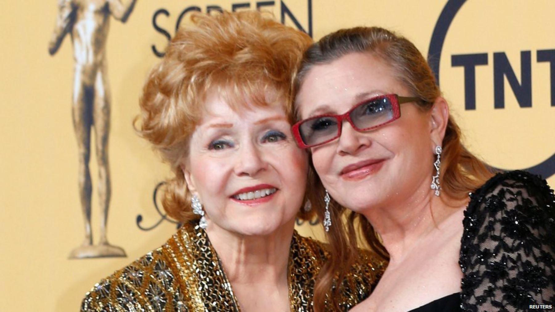 Debbie Reynolds y su hija Carrie. INTERNET/Medios