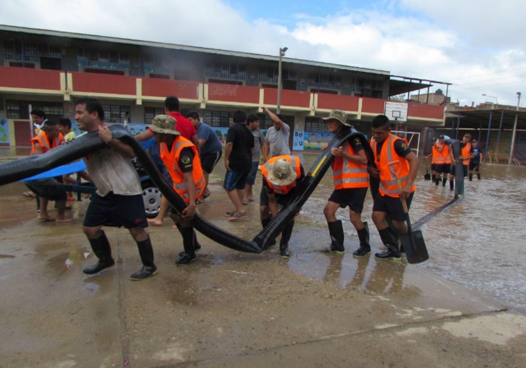 Varios colegios de Lambayeque sufrieron daños por las lluvias intensas. ANDINA/Difusión