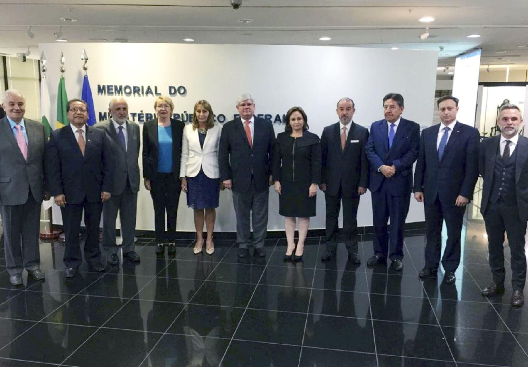 Fiscales de quince países en los que operó Odebrecht se reúnen en Brasil para intercambiar información de los presuntos pagos de sobornos. Difusión