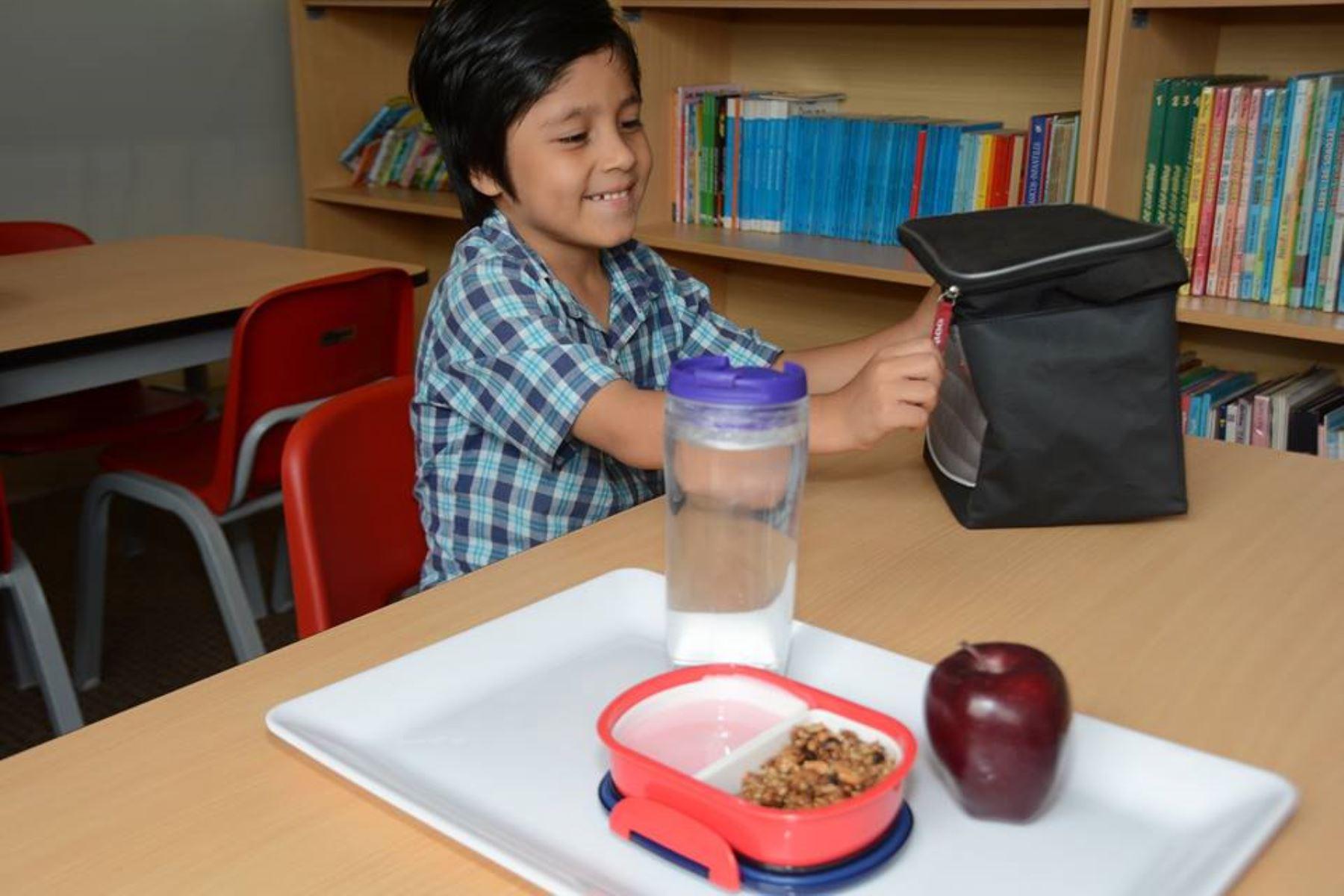 Nutricionistas brindan opciones de loncheras escolares. Foto: Difusión