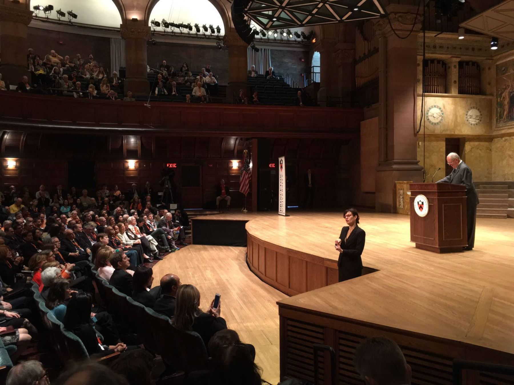President Kuczynski delivers speech at Princeton University