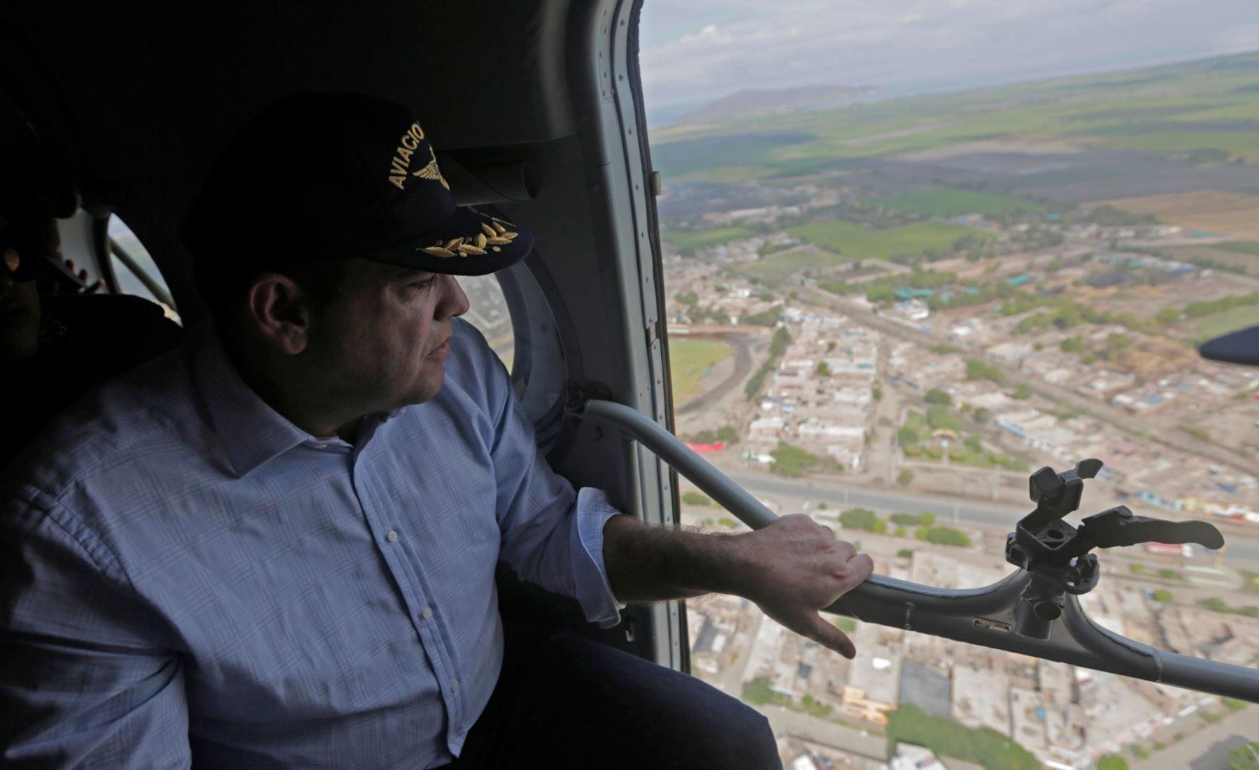Jefe del Gabinete, Fernando Zavala, durante su visita a la región Áncash. Foto:ANDINA/Difusion