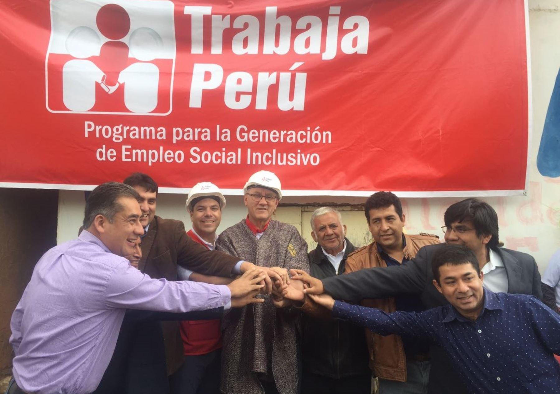 MTPE genera más de 1,000 empleos temporales para población vulnerable de Cajamarca.Foto: ANDINA/Difusión