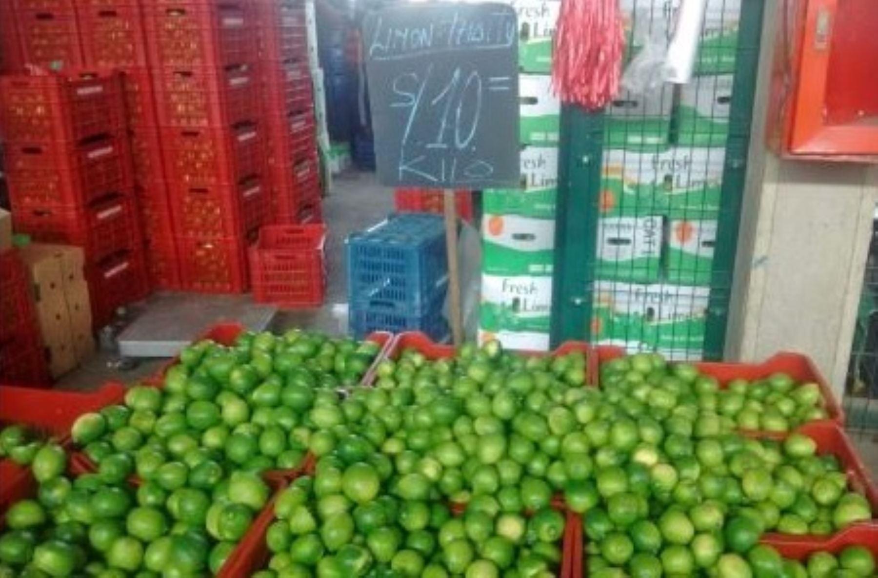 Precio del limón se reduce.