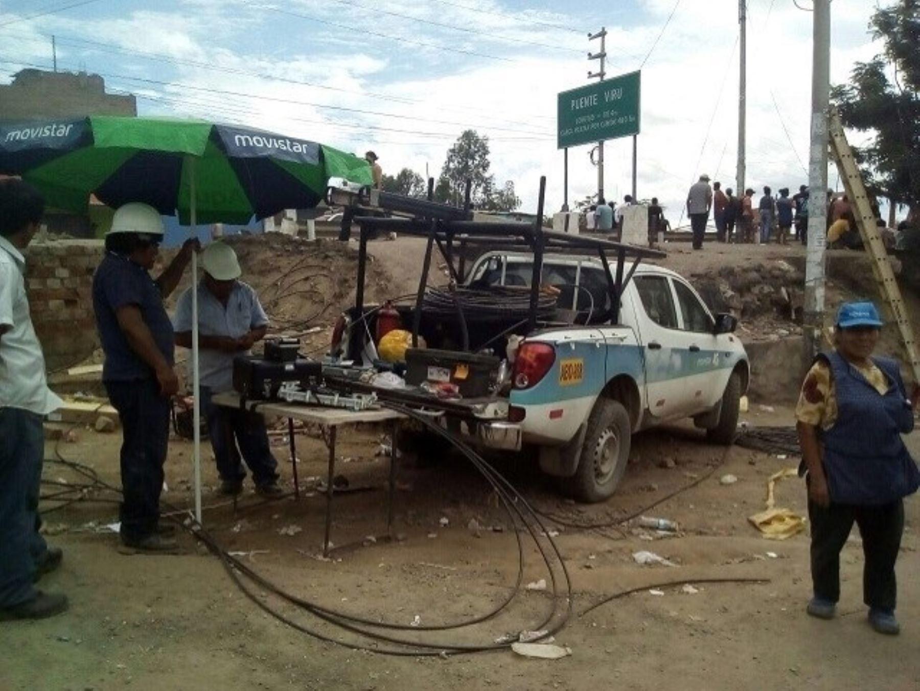 Se restablece los servicios de telefonía móvil en Trujillo y de Tv cable en Chimbote