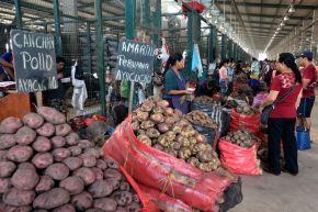 Mercado mayorista. ANDINA/Dante Zegarra