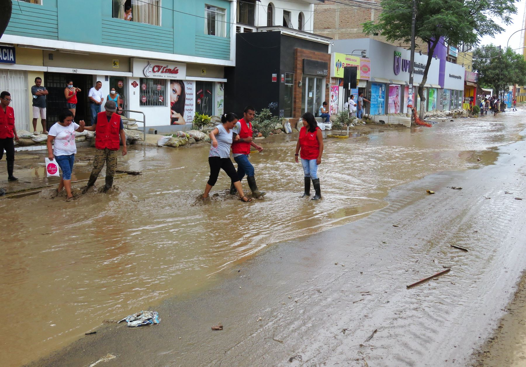 Damnificados por El Niño costero. Foto: ANDINA