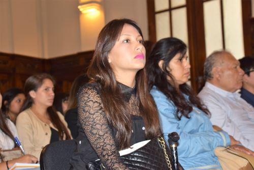 Abogada Arlette Contreras. Foto:  ANDINA/Difusión