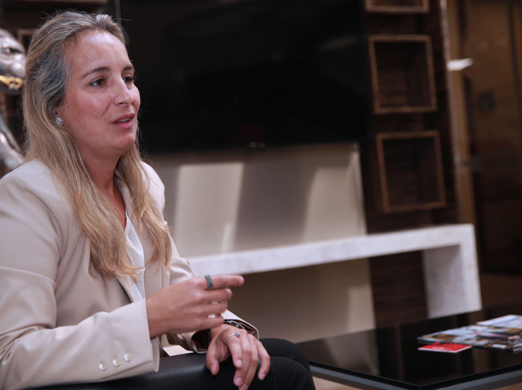 Valentina Schmitt se encuentra en Lima para continuar interesante investigación. ANDINA/Norman Córdova