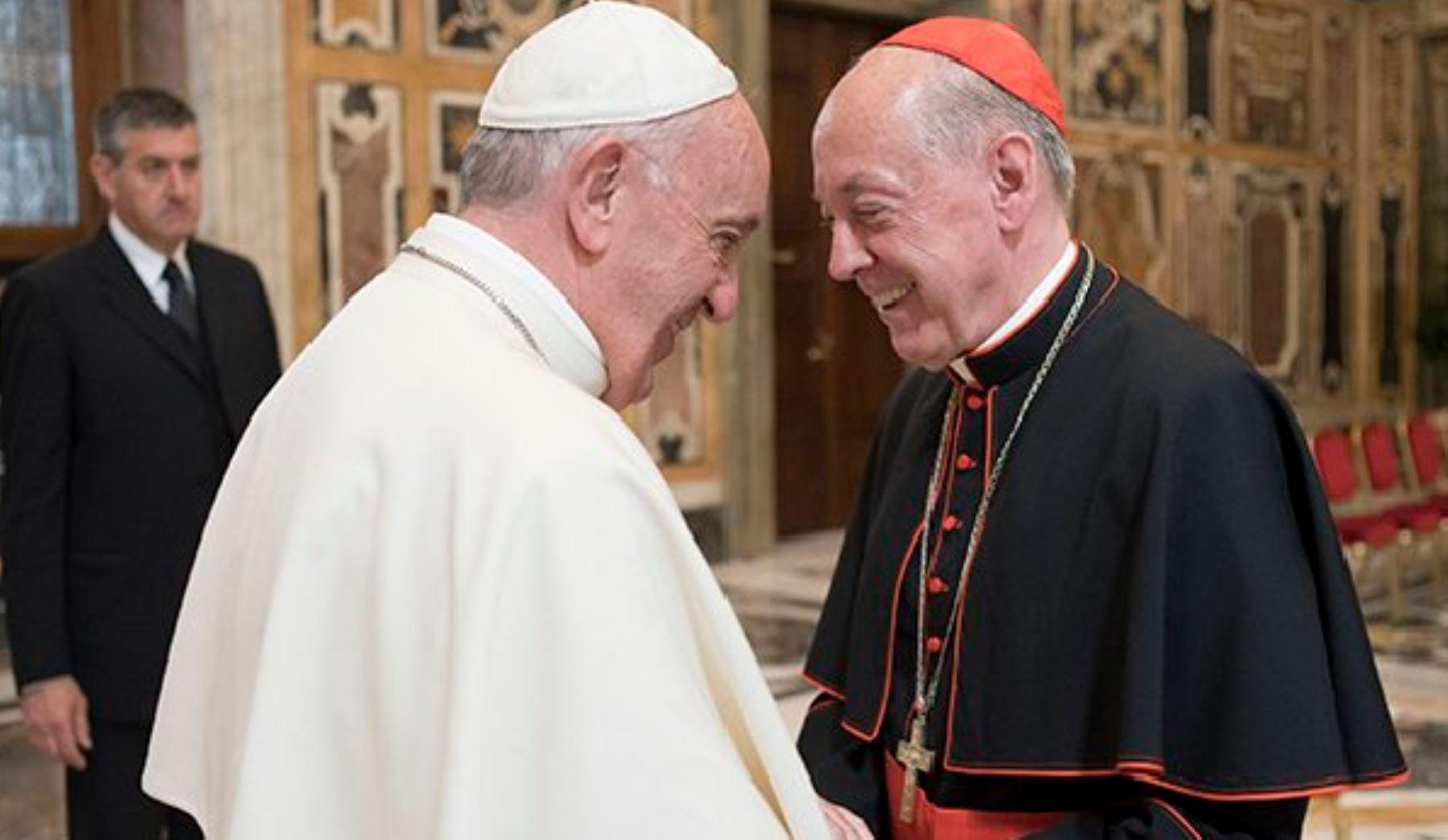 El papa Francisco recibió en Roma al cardenal Juan Luis Cipriani. Foto: Difusión.
