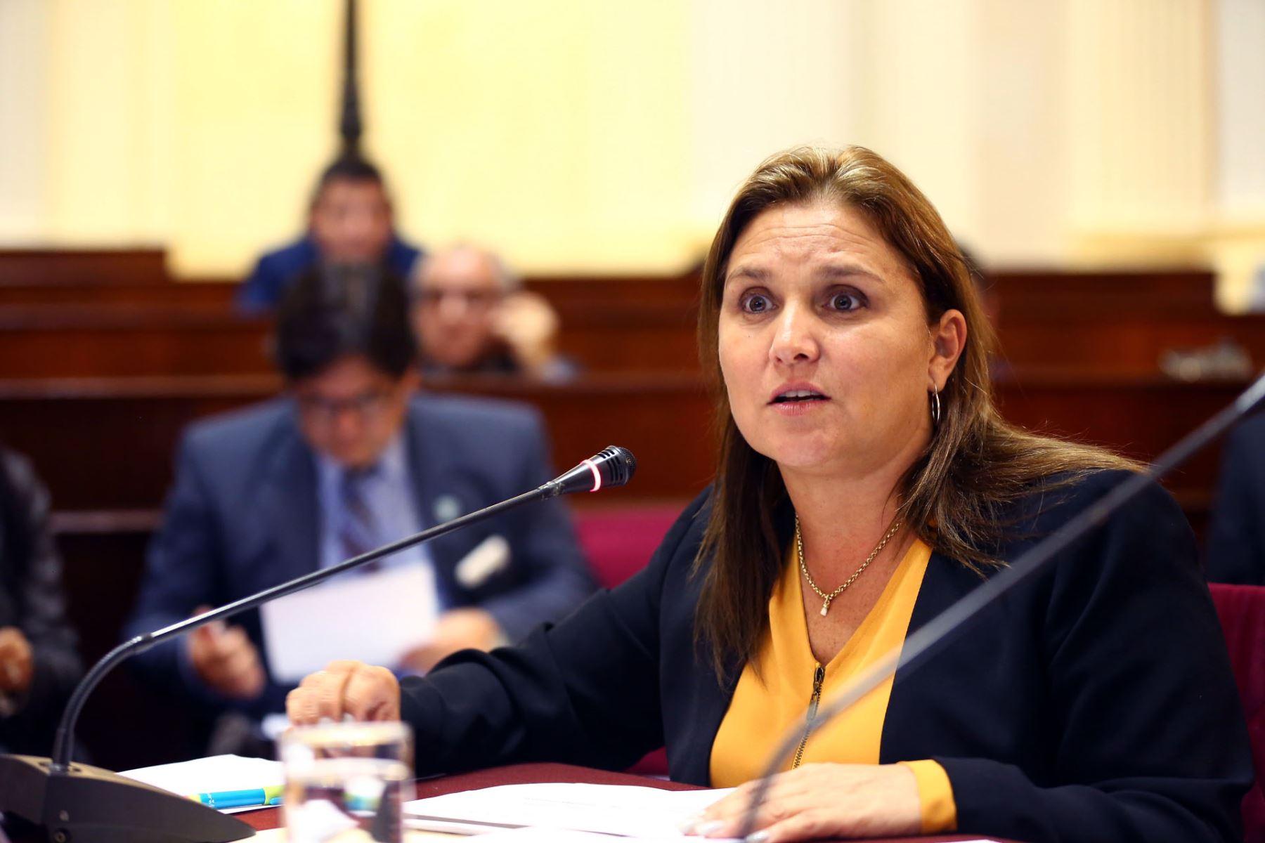 Ministra de Justicia, María Soledad Pérez Tello.