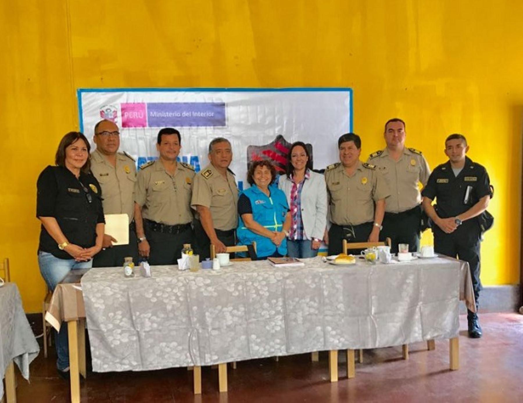 Barrio seguro planifican actividades en trujillo a for Ministerio del interior peru