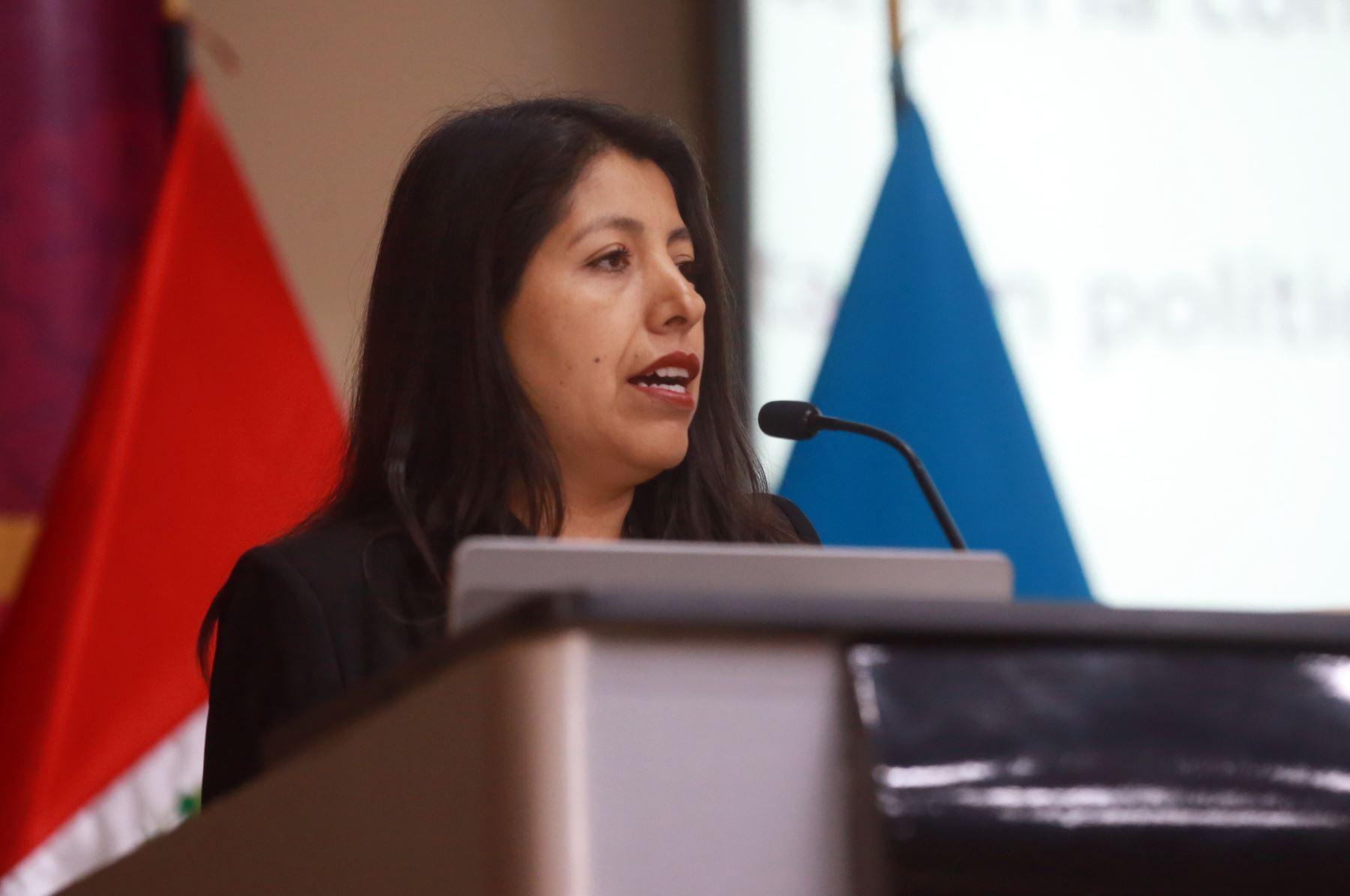 Jefa de la oficina legal del proyecto especial para los Juegos Panamericanos Lima 2019, Amalia Moreno. ANDINA/Jhony Laurente