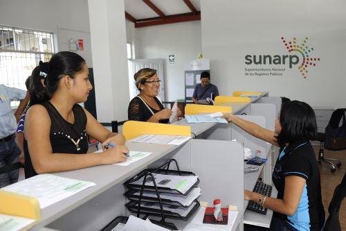 Sunarp.Foto:  ANDINA/Difusión