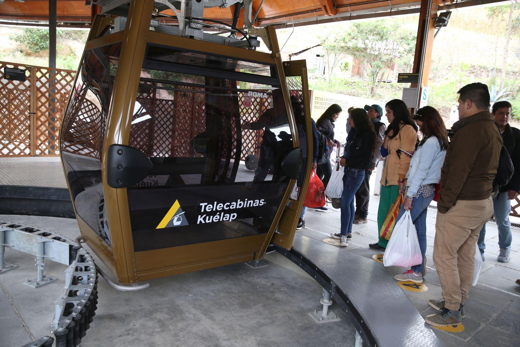 CHACHAPOYAS,PERÚ.  Telecabinas en Kuélap  Chachapoyas. Foto: ANDINA/Vídal Tarqui