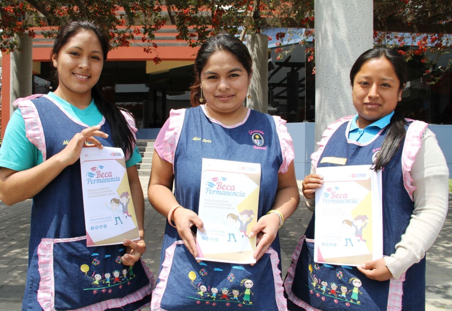 Beca Permanencia ofrece 2,000 becas para culminar estudios en universidades públicas. Foto: ANDINA/Difusión.