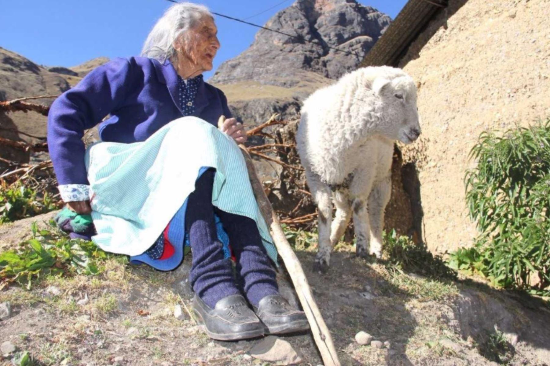 La ayacuchana María Flores Rojas es la usuaria más longeva de Pensión 65. Nació en Condorpampa, caserío del anexo de Ccalani, distrito de Upahuacho, provincia de Parinacochas, donde ha vivido sus 116 años.