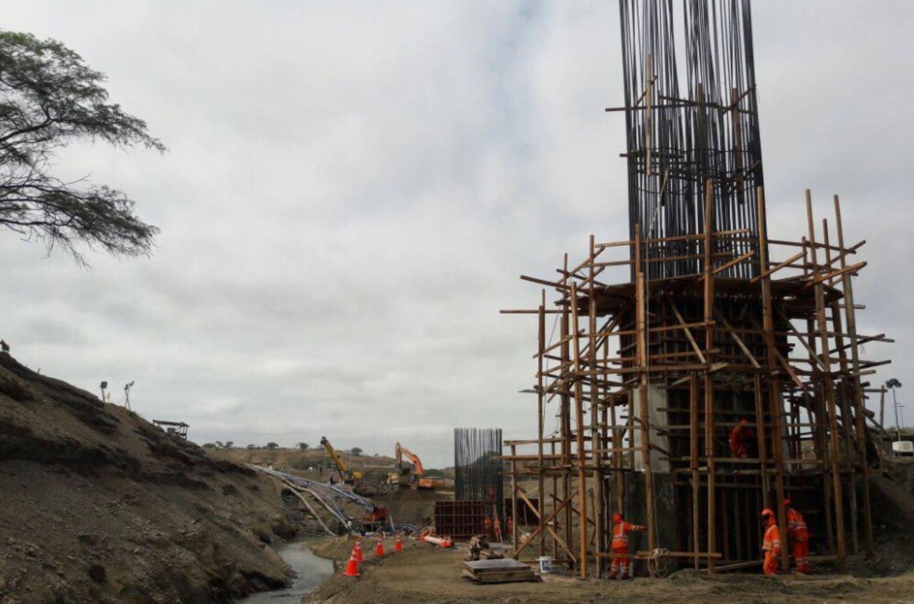 Piura: puente Venados registra avance del 13% y estaría terminado antes de plazo