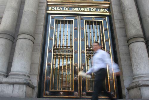 Frontis de la Bolsa de Valores de Lima.Foto:  ANDINA/Difusión.
