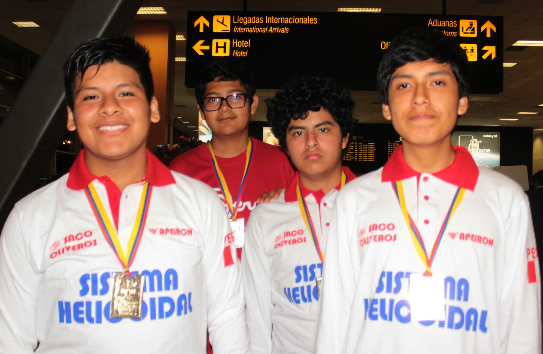 Diego Lázaro, Renzo Balcázar, Joseph Altamirano y Daniel Benavides retornaron al Perú. Foto: Difusión