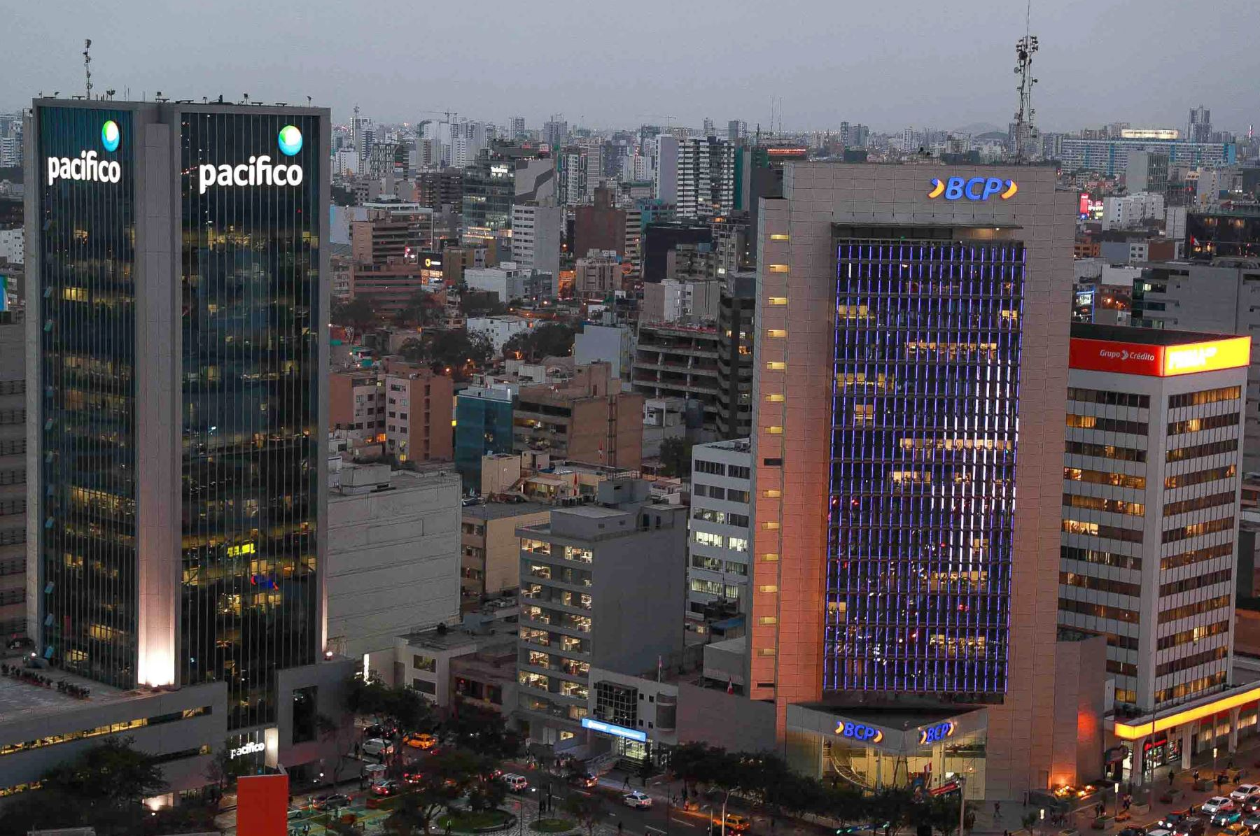 Centro financiero de Lima. Foto: ANDINA/Carlos Lezama.