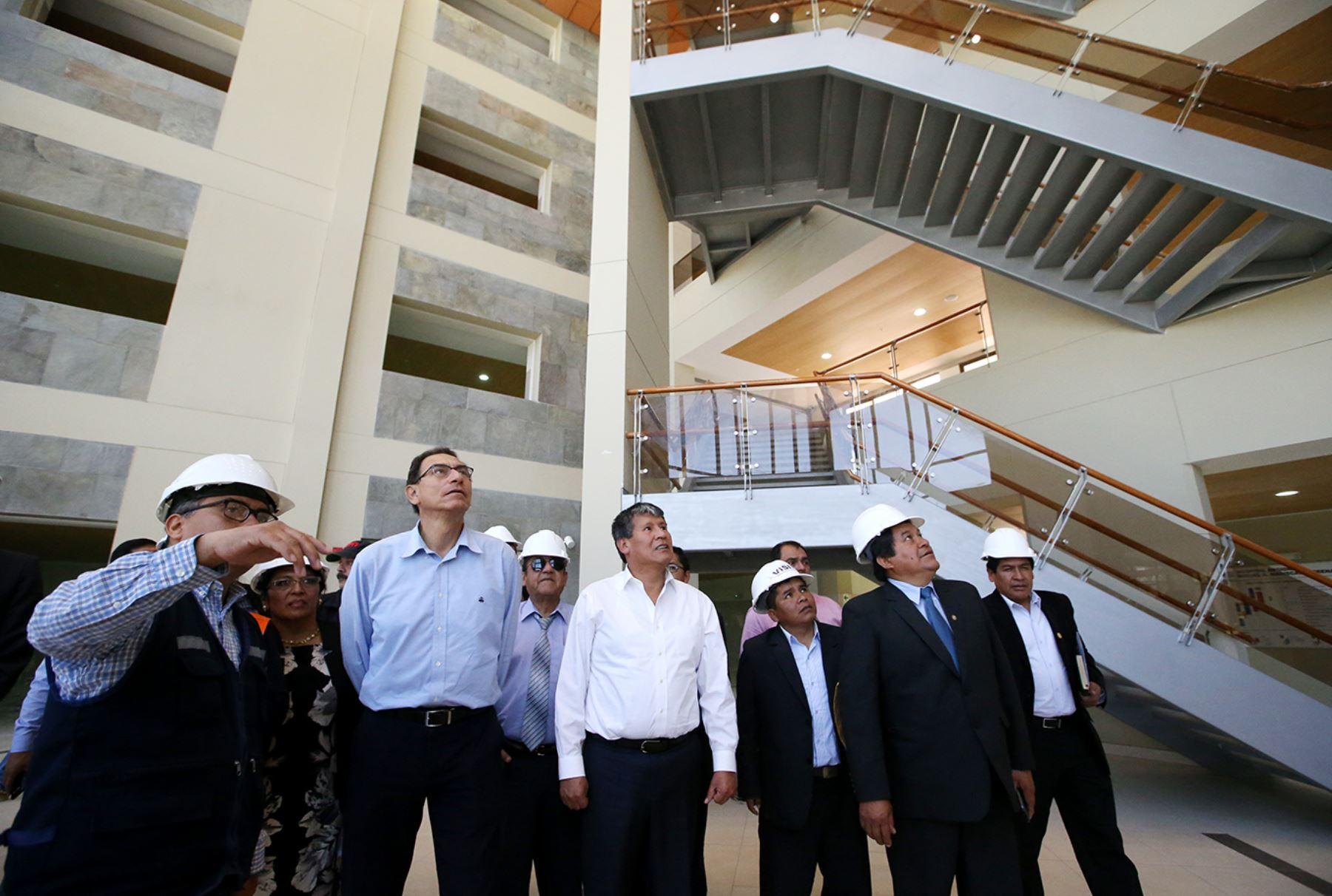Vicepresidente, Martin Vizcarra visita las instalaciones del nuevo Hospital Regional Mariscal Llerena  de Ayacucho. Foto: ANDINA/Melina Mejía