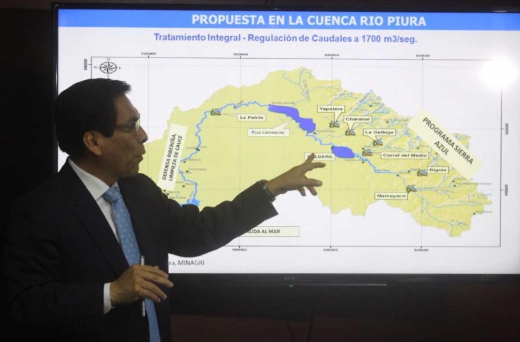 El Ministerio de Agricultura y Riego (Minagri) cuenta con un planteamiento integral para la cuenca del río Piura, que comprende una serie de obras de infraestructura hidráulica que evitarán futuros desbordes e inundaciones y con ello daños a la población y la economía regional, anunció el titular del sector, José Manuel Hernández