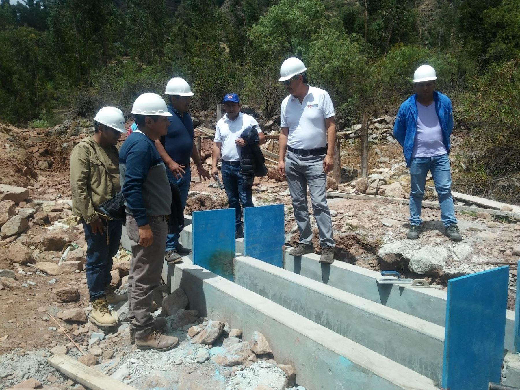 Ministerio de Vivienda invierte S/ 6.1 millones en obra de saneamiento en Huancaray, Apurímac. ANDINA/Difusión
