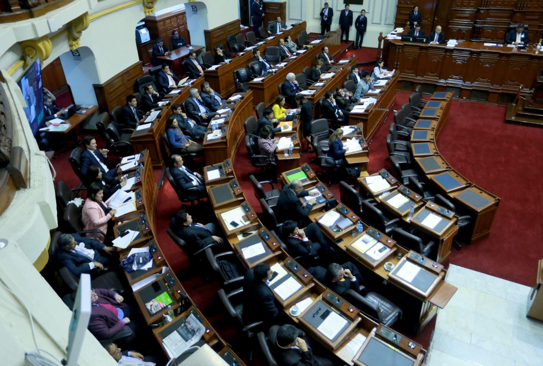Pleno del Congreso. Foto: ANDINA/Archivo.