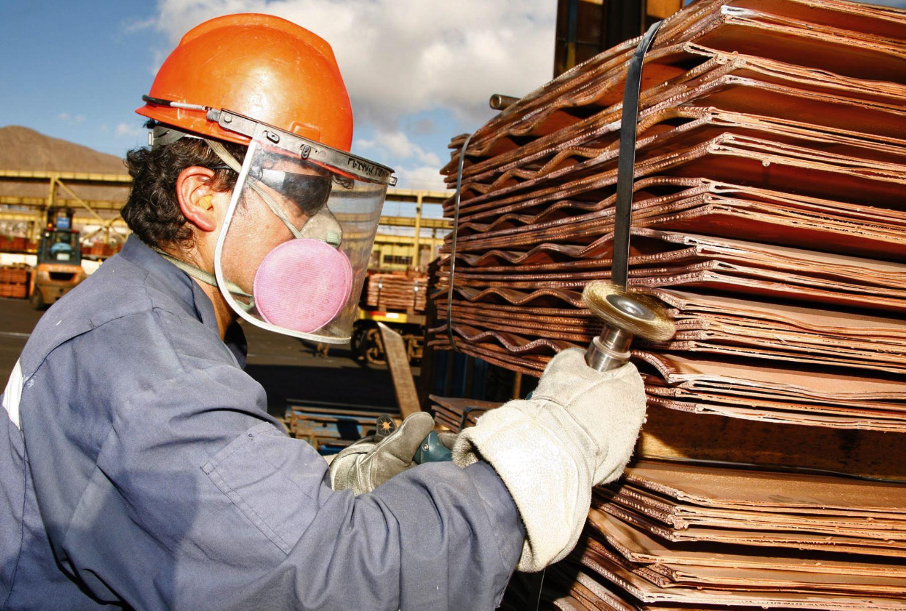 Producción de cobre. Foto: MEM.