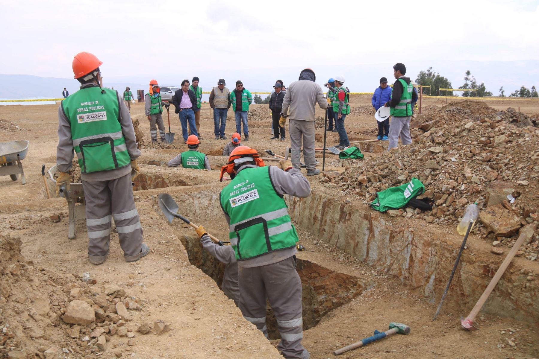 Avanza construcción de planta de tratamiento de residuos sólidos en Huancayo. ANDINA/Pedro Tinoco