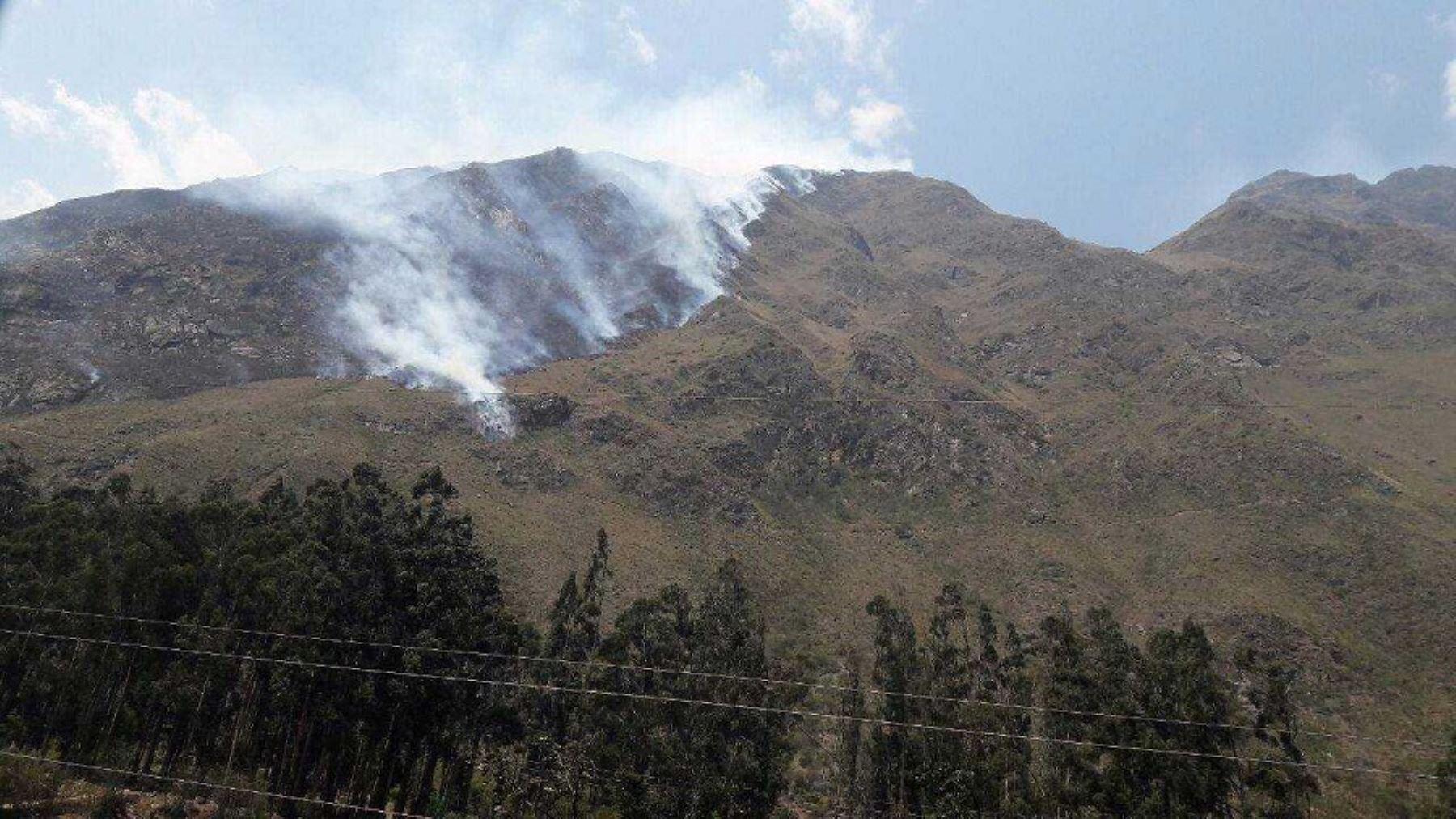 Un incendio afecta varias hectáreas de vegetación del sector Cusichaka del distrito de Machu Picchu, en la provincia cusqueña de Urubamba.