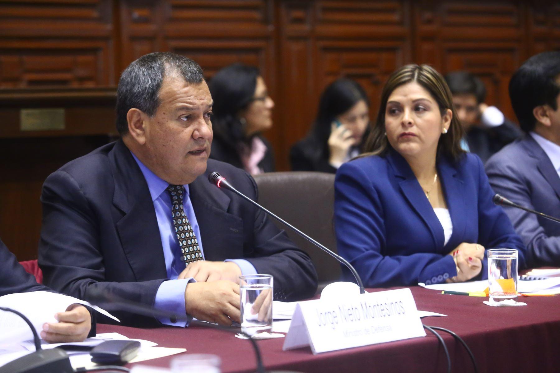 Ministro Jorge Nieto sustentó presupuesto para el 2018 en el Congreso.