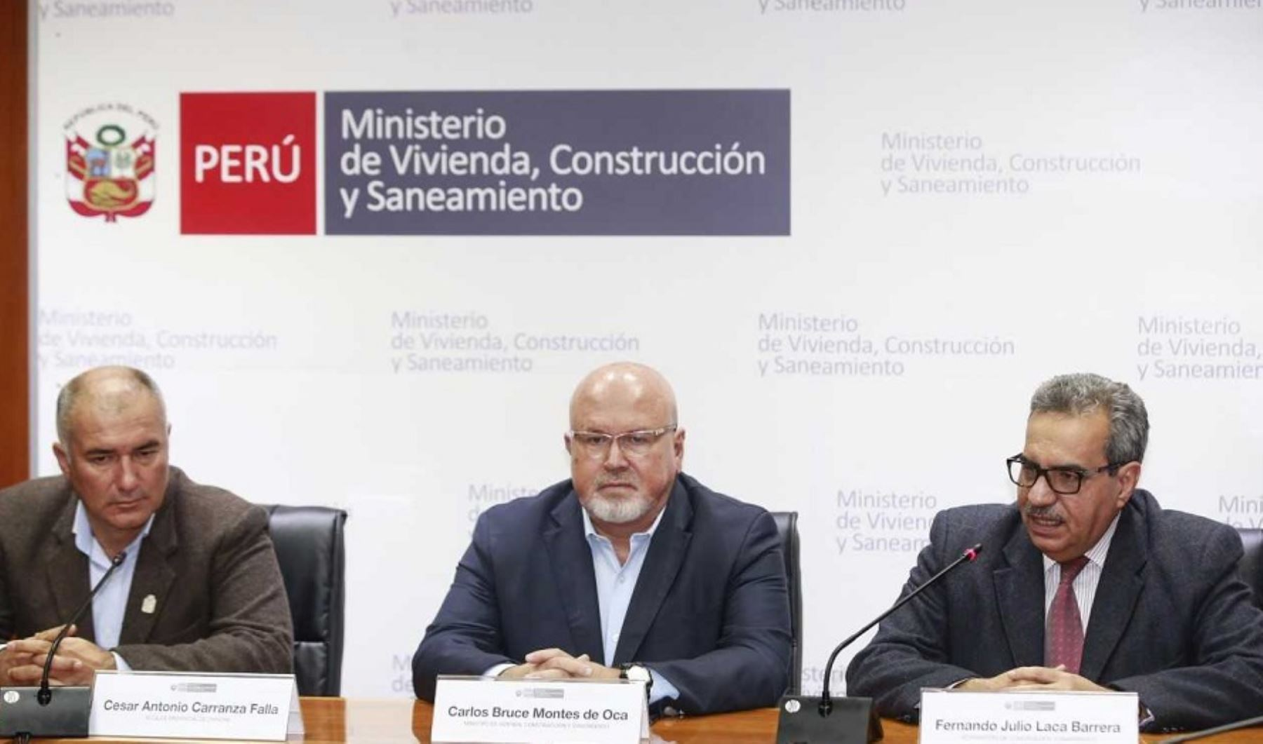 Casi 200,000 pobladores de la provincia de Chincha, en la región Ica, se beneficiarán con el tratamiento de aguas residuales en virtud a un convenio de Delegación de Funciones que firmaron hoy el Ministerio de Vivienda, Construcción y Saneamiento (MVCS) con la Municipalidad Provincial.