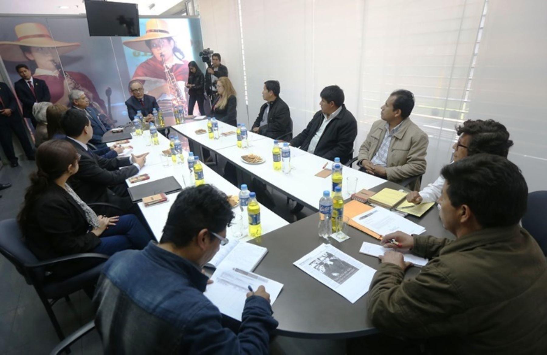 Minedu inicia el proceso de diálogo con dirigentes regionales de docentes. Foto: ANDINA/Difusión.