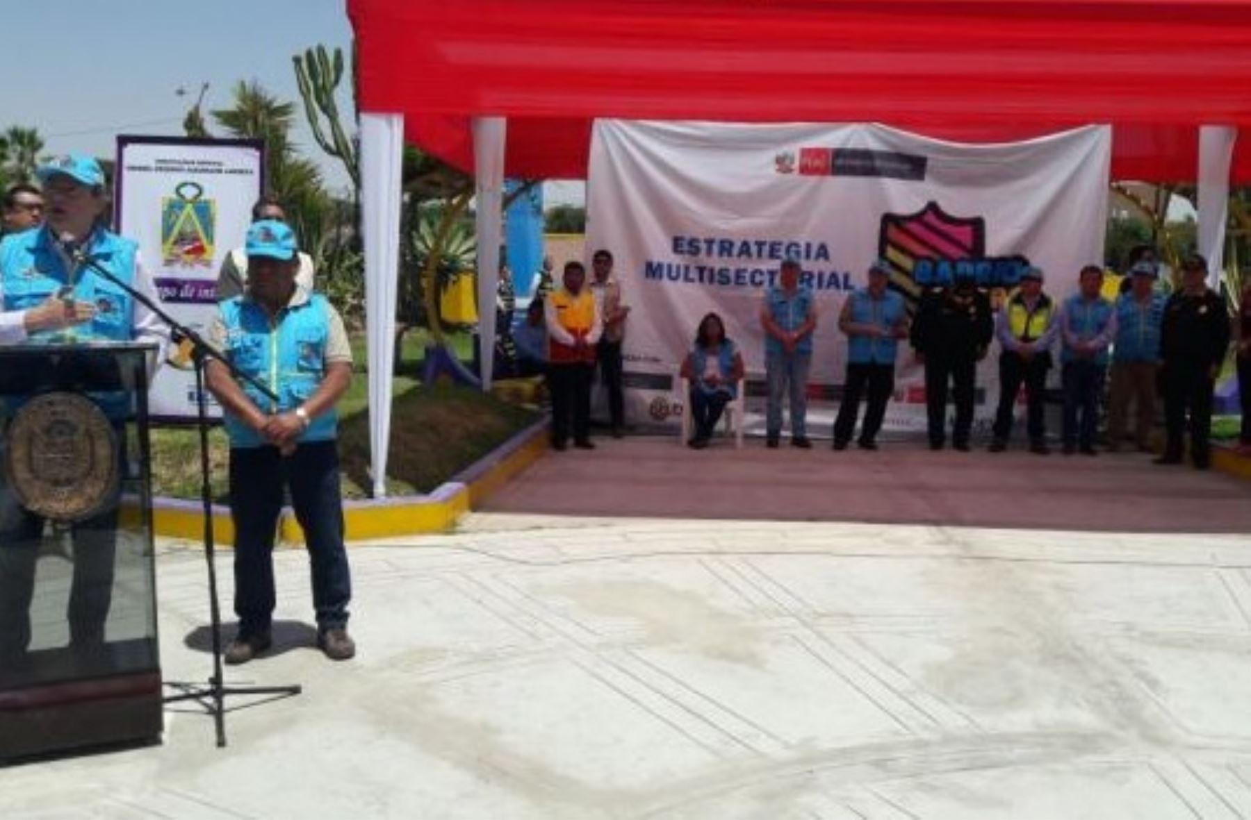 tacna implementan estrategia barrio seguro en el distrito
