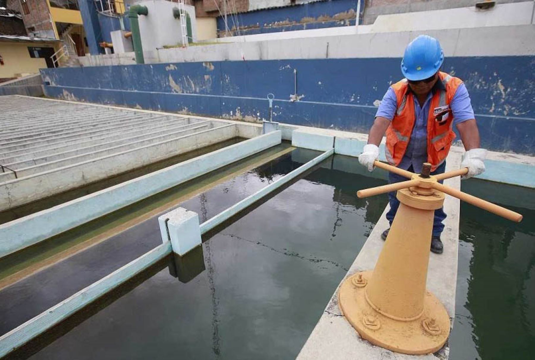 Obras de agua potable. ANDINA/Difusión