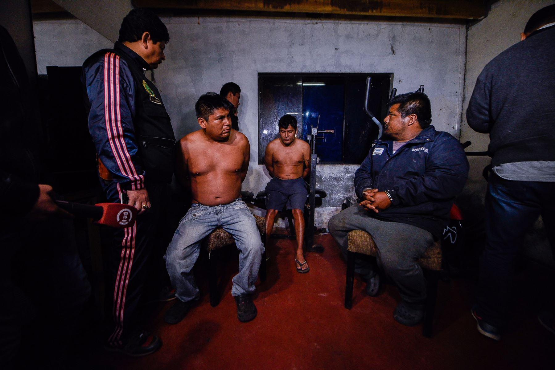 Capturan a 17 integrantes de la banda los Malditos de Barranca. Foto: Mininter.