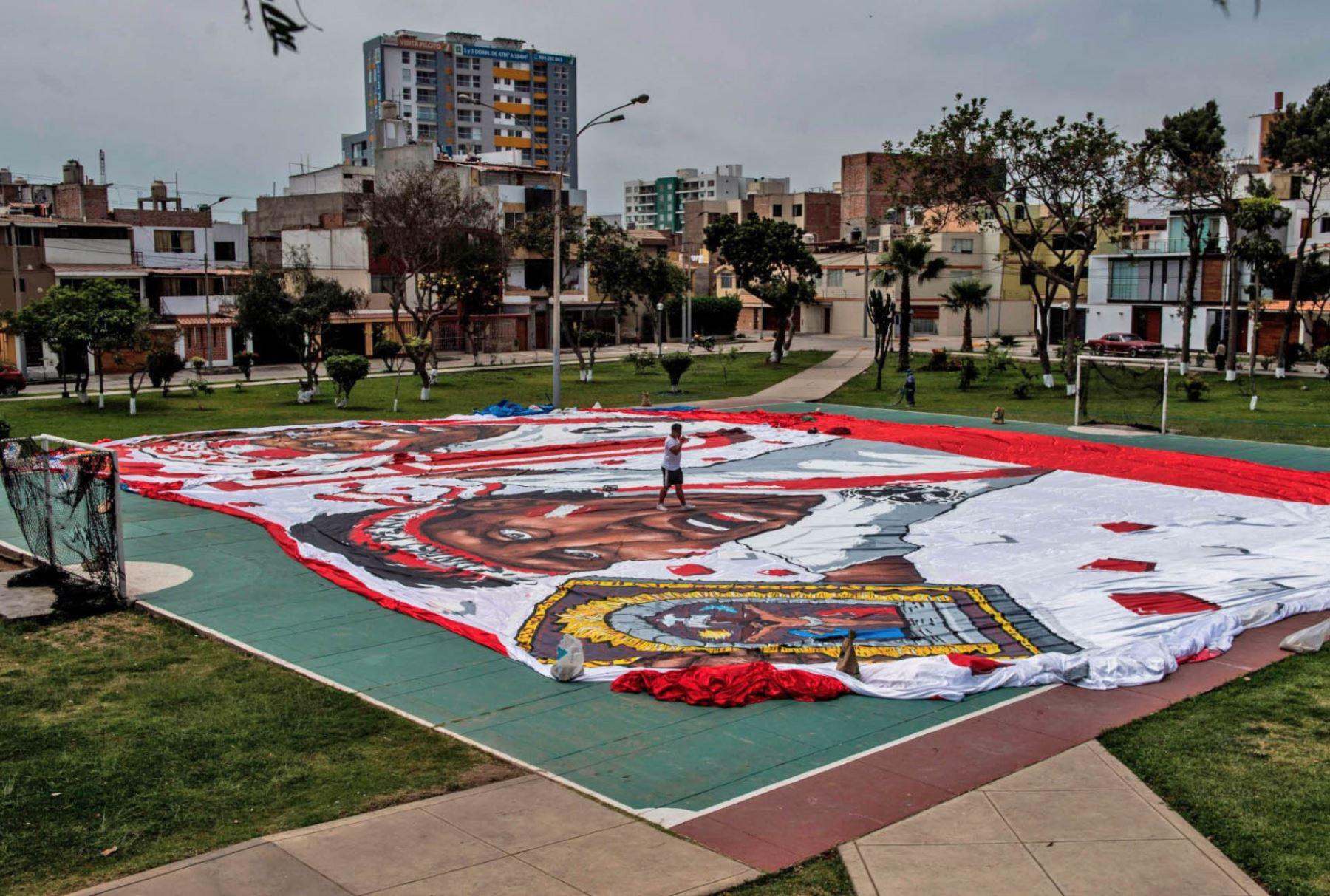 Banderola en apoyo a la selección peruana