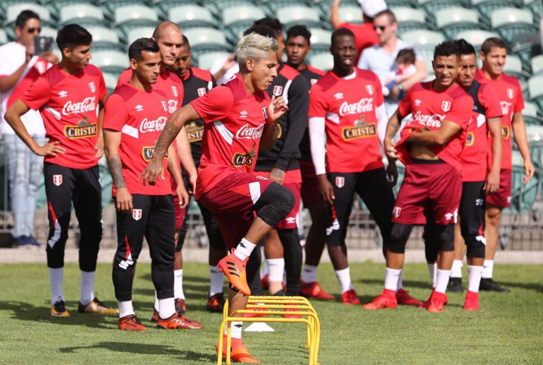 Selección peruana empieza trabajos en el QBE Stadium de Auckland. Foto: ANDINA/ FPF
