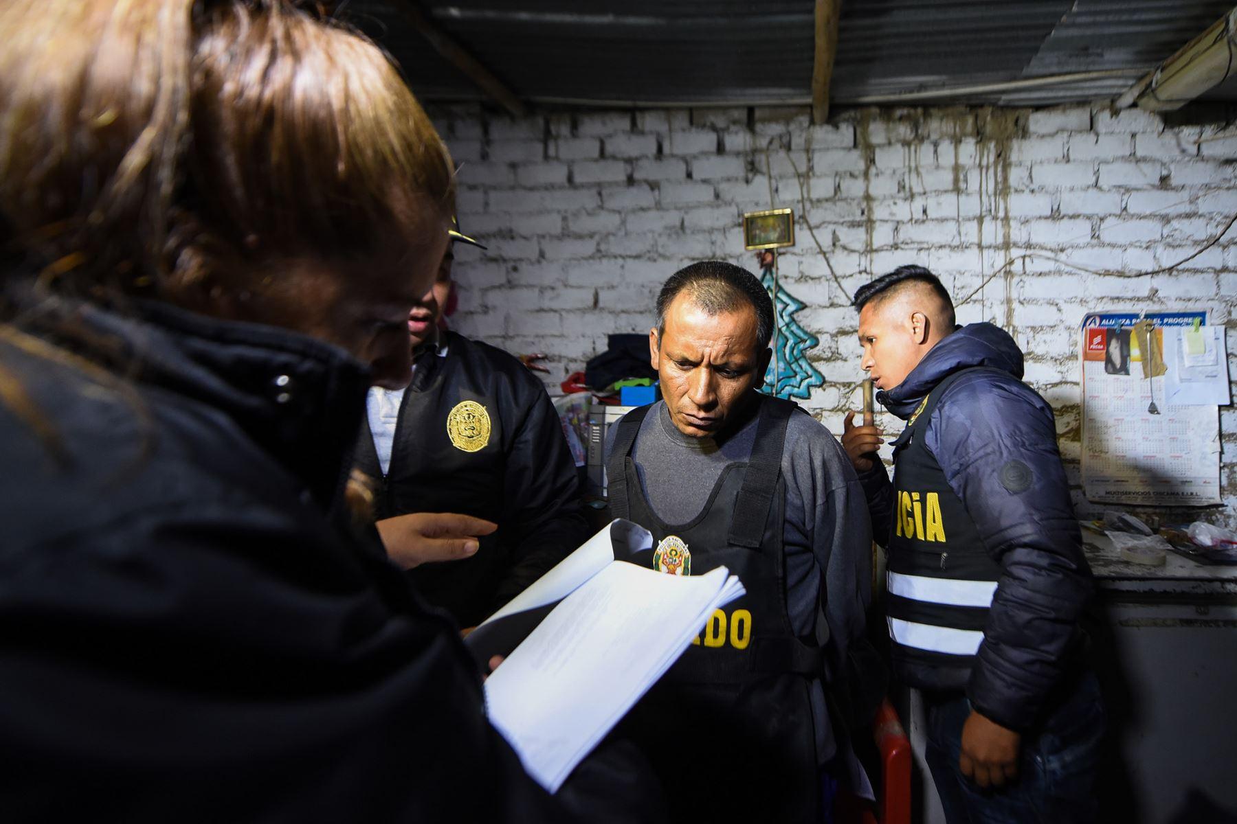 Em megaoperativo, desarticulan organización criminal Alianza del Valle dedicada a la extorsión en Trujillo.