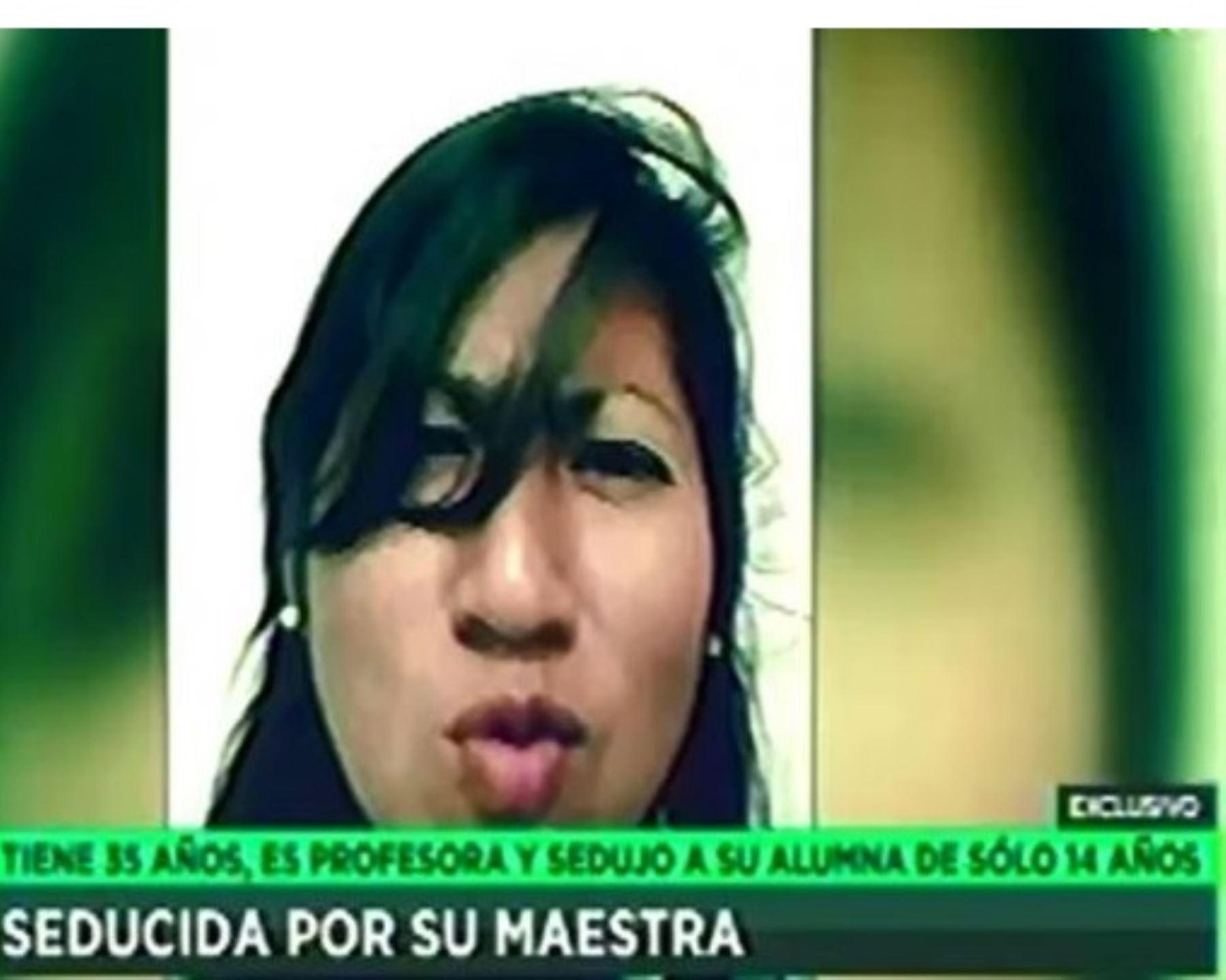 Profesora Jessica Karina Sierra Salas, acusada de acoso sexual a alumna menor de edad. Foto: Captura TV