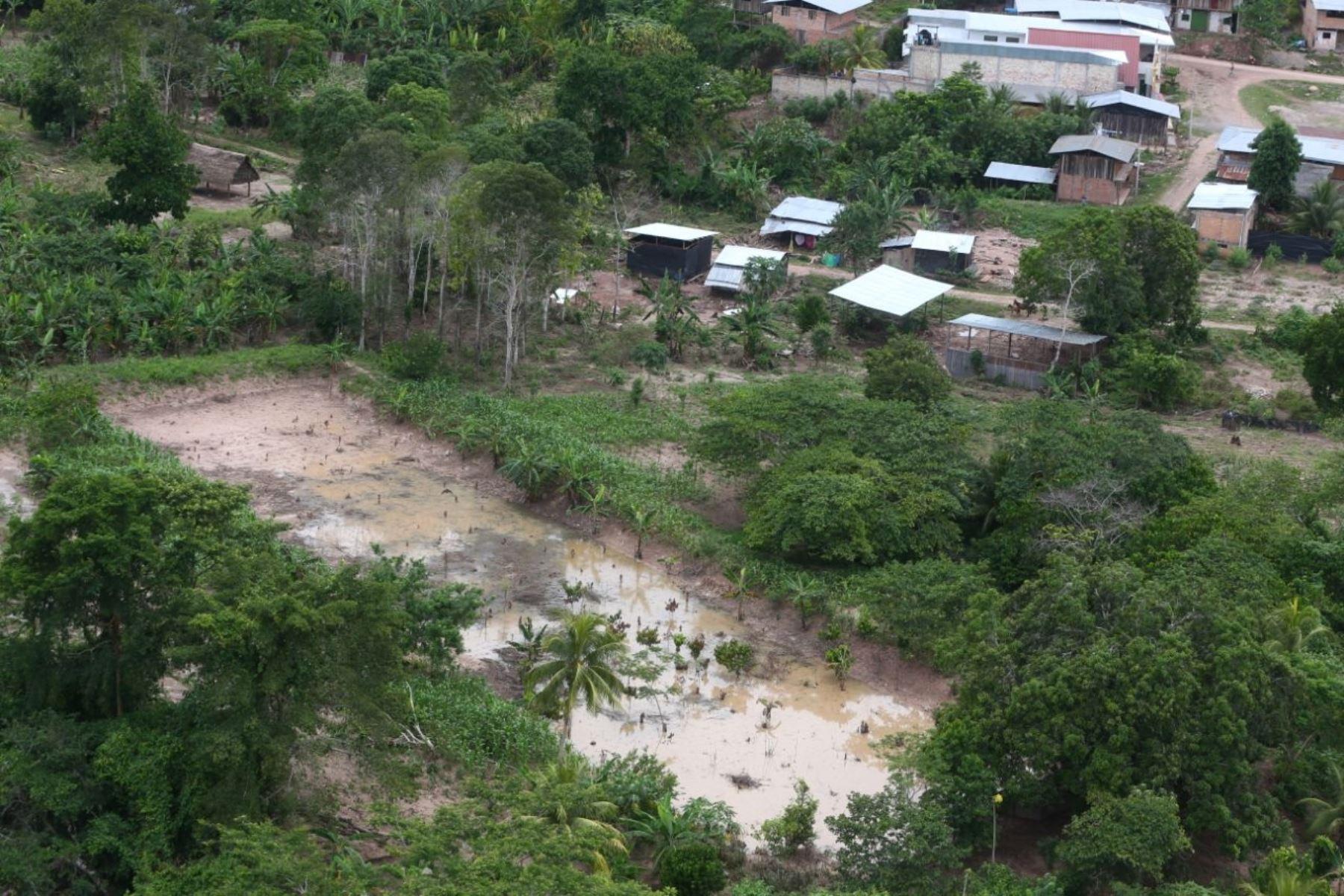 Gobierno entrega ayuda humanitaria a damnificados por inundaciones en San Martín. ANDINA/Difusión