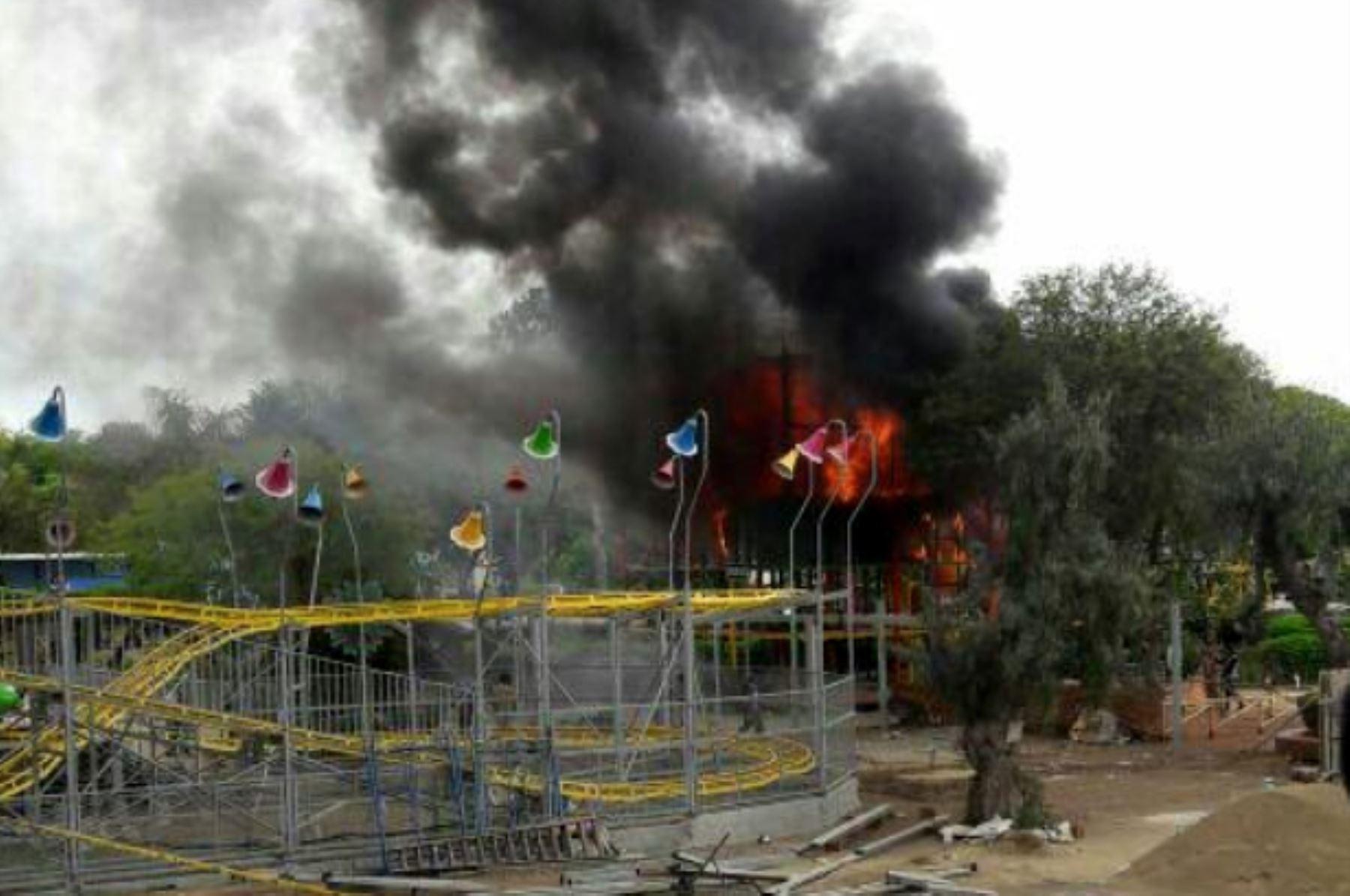 Incendio en Parque de las Leyendas no generó daños a animales