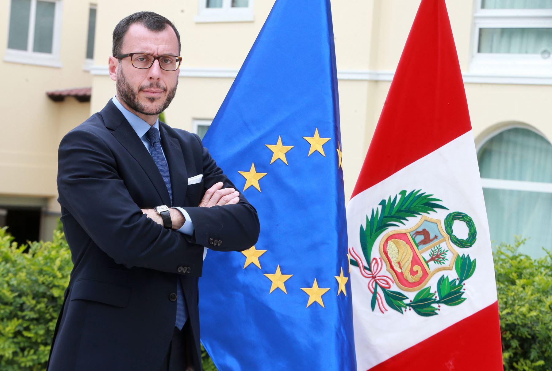 LIMA,PERÚ-NOVIEMBRE 21. Embajador de la Unión Europea en el Perú, Diego Mellado. Foto: ANDINA/Vidal Tarqui