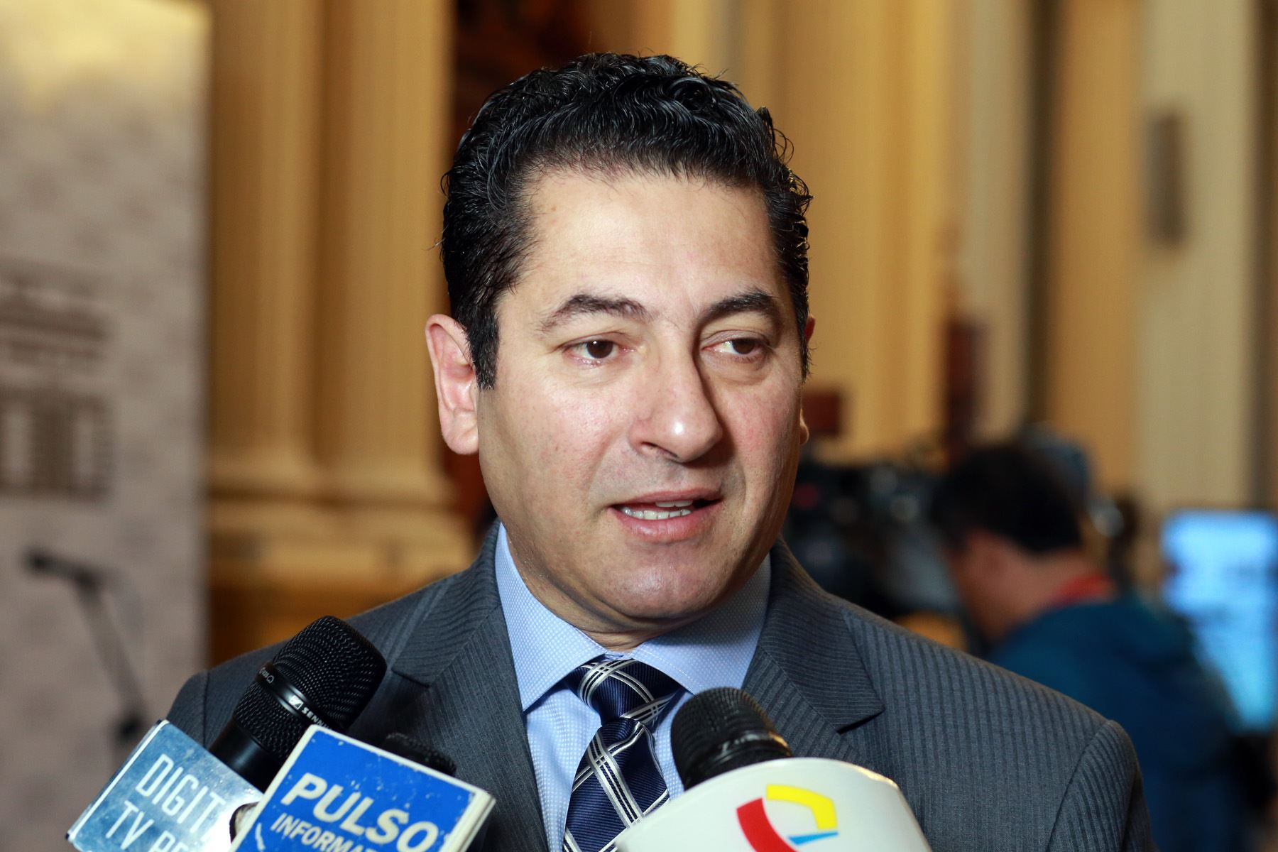 Presidente de la comisión de Justicia del Congreso, Salvador Heresi. ANDINA/Dante Zegarra