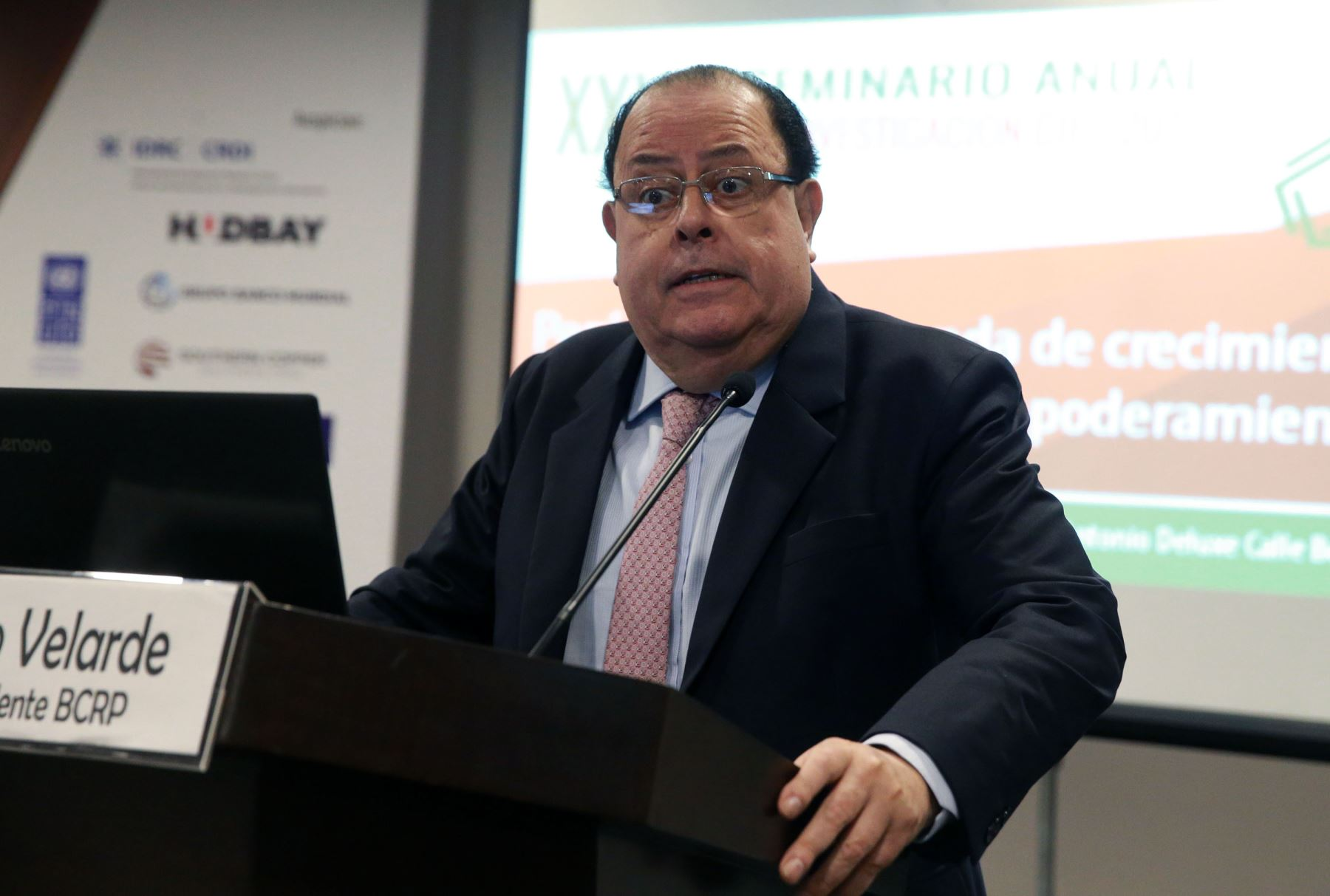 Presidente del BCR, Julio Velarde. ANDINA/Vidal Tarqui